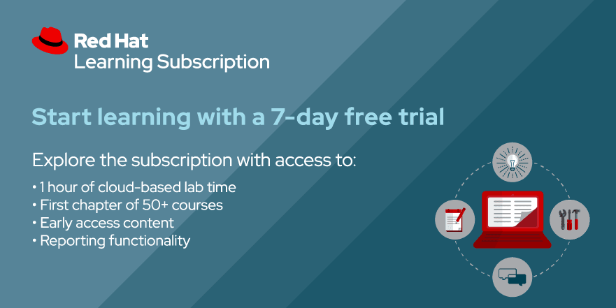 Red Hat Learning Subscription FREE Trial